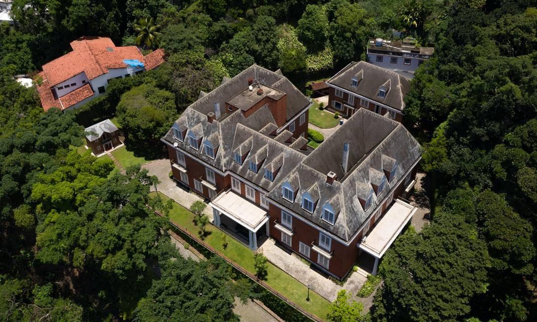Vista aérea do imóvel localizado no Jardim Pernambuco, no Leblon Foto: Pablo Jacob / Agência O Globo