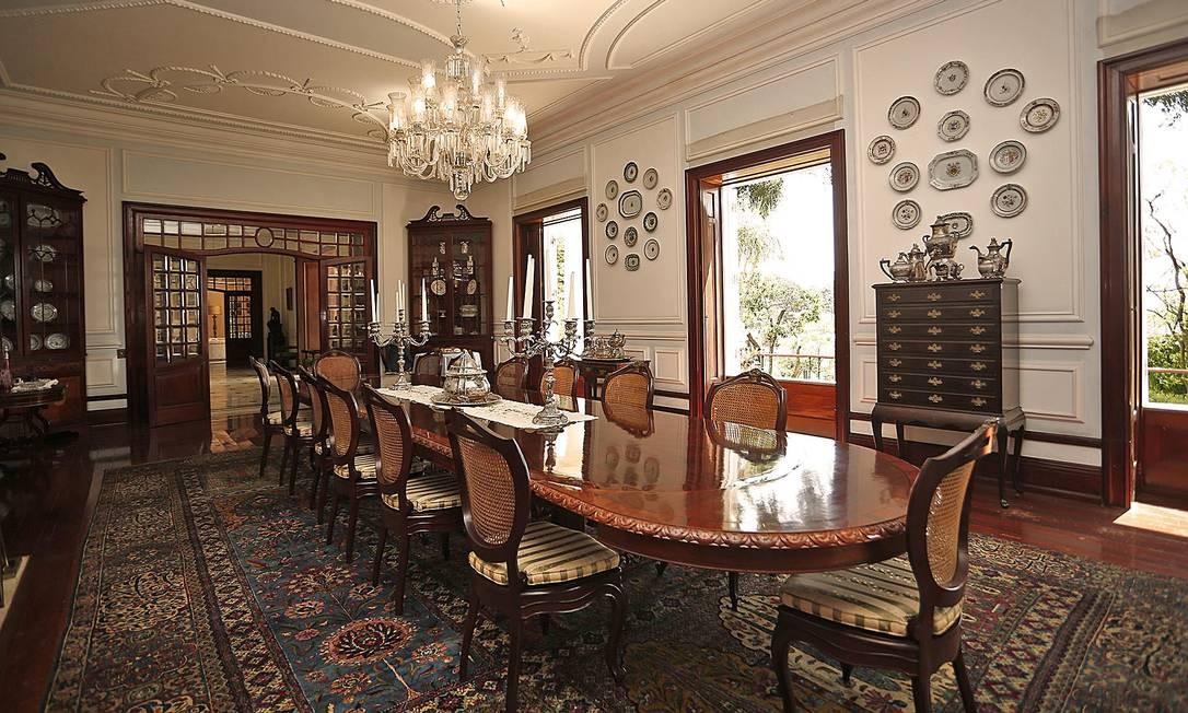 A sala de jantar do imóvel. O gerente-geral da imobiliária no Rio pretende vendê-lo até o primeiro semestre de 2020 Foto: Divulgação