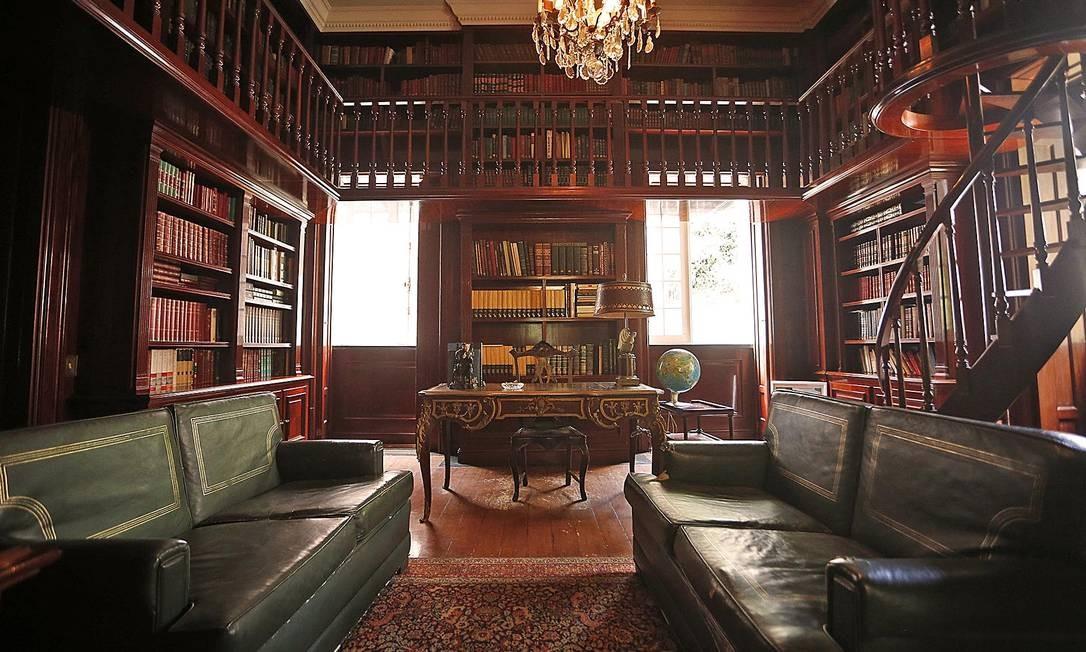 A biblioteca da casa Foto: Divulgação