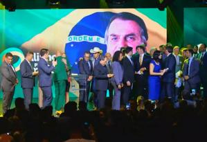 Bolsonaro agradece empresário Paulo Octávio por ceder auditório para convenção do partido Foto: Reprodução