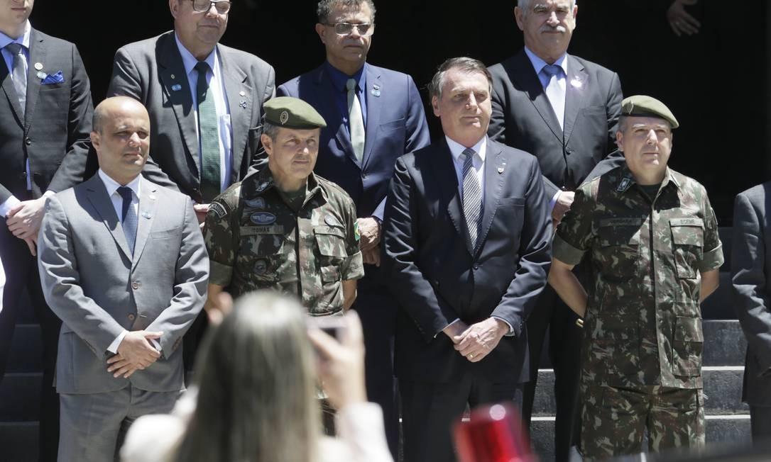 O presidente Jair Bolsonaro chega em evento do exército na Urca. Rio de Janeiro 22.11.2019 Antônio Scorza/ Agência O Globo Foto: Antonio Scorza / Antonio Scorza