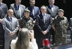 O presidente Jair Bolsonaro chega na Escola de Comando e Estado-Maior do Exército, no Rio Foto: Antonio Scorza / Antonio Scorza