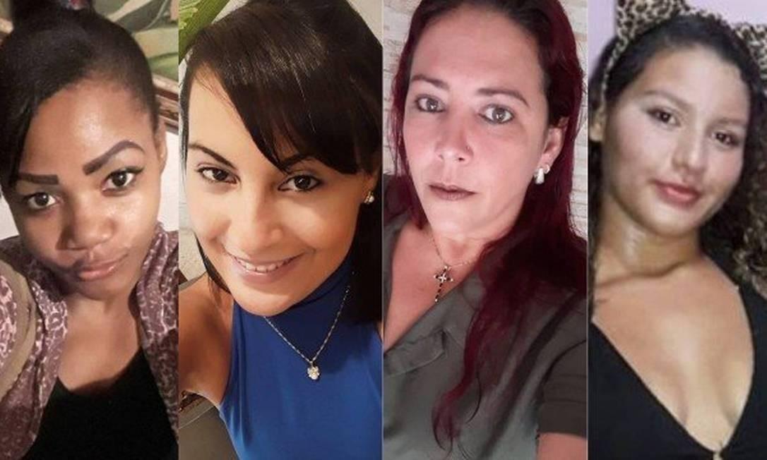 Adriana, Jéssica, Sirlene e Maria Eduarda: vítimas de feminicídio Foto: Reprodução das redes sociais