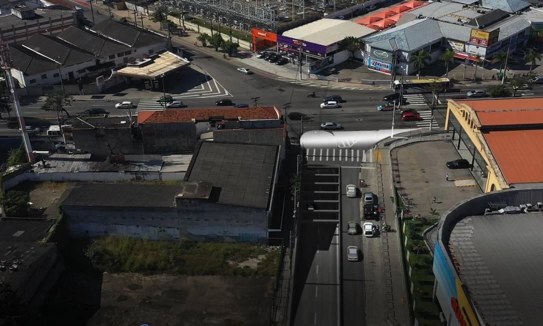 Mergulhão no cruzamento da Rua Marechal Deodoro com a Avenida Jansen de Melo: veículos acessarão a Ponte Rio-Niterói pela Rua São Lourenço. Foto: Divulgação / Prefeitura de Niterói
