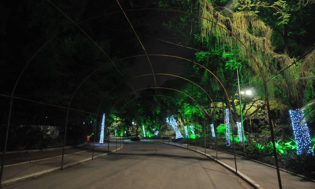 Preparação. Túnel de 200 metros no Campo de São Bento será iluminado Foto: Nathália Félix / Divulgação