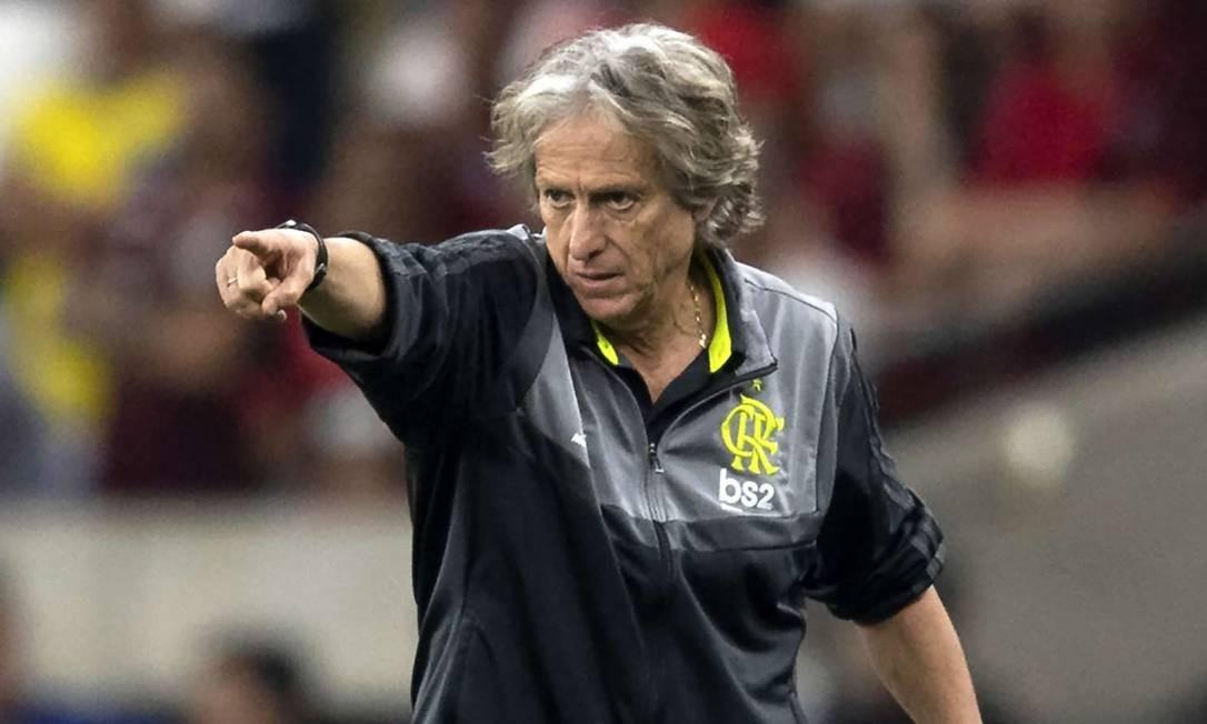 O técnico do Flamengo, Jorge Jesus Foto: Getty Images