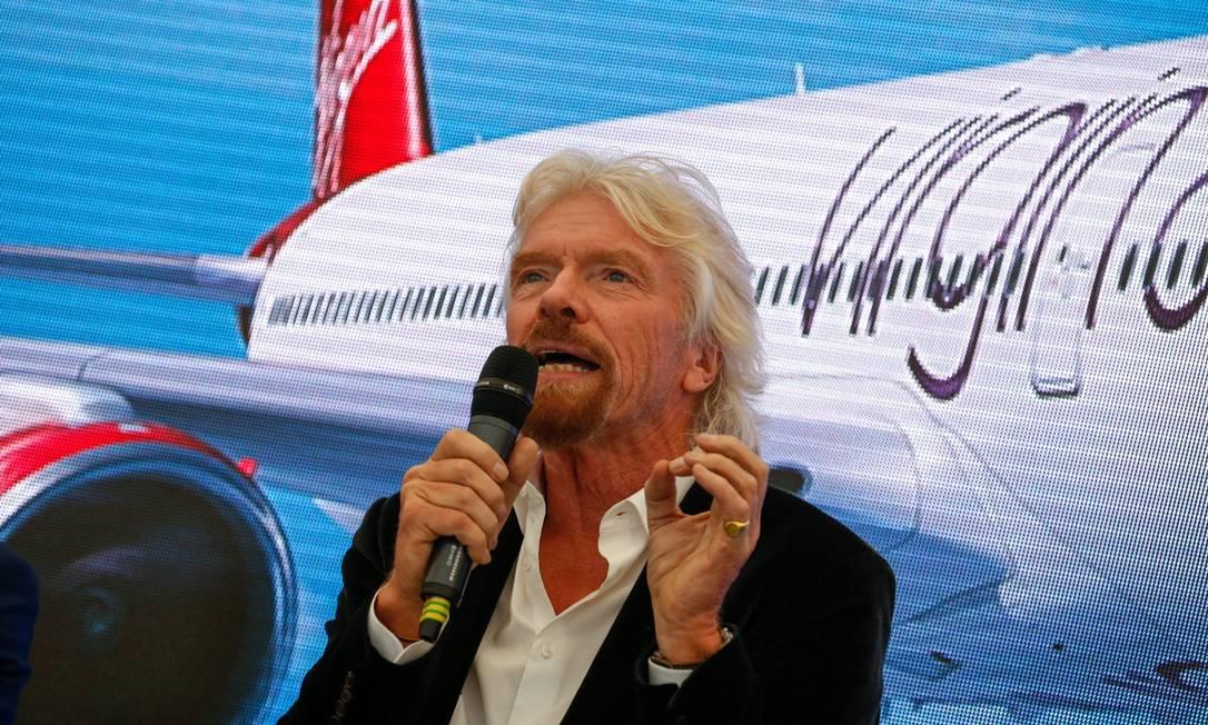 O bilionário Richard Branson, fundador do grupo Virgin Foto: Luke MacGregor / Bloomberg/11-7-2016
