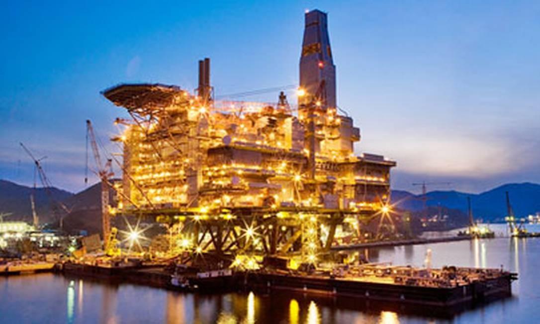 Estaleiro da Samsung Heavy Industries em Geoje, Coreia do Sul Foto: Divulgação