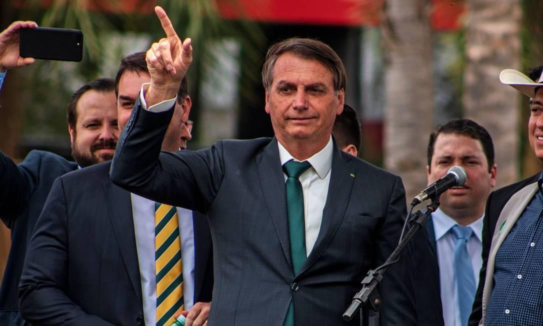 Jair Bolsonaro na primeira conferência nacional do Aliança pelo Brasil Foto: TheNews2 / Agência O Globo