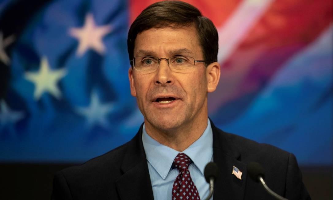 Secretário de Defesa norte-americano, Mark Esper Foto: DoD/Lisa Ferdinando / REUTERS