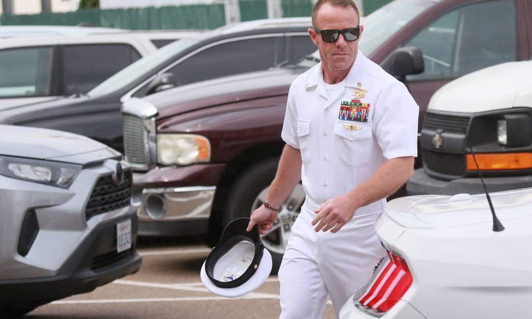 O ex-comandante de operações especiais da Marinha Edward Gallagher, perdoado por Trump depois de condenado por crime de guerra Foto: SANDY HUFFAKER / AFP/24-11-2019