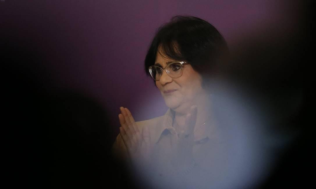 A ministra disse que a ideia é que o governo federal financie os cursos de capacitação Foto: Jorge William / Agência O Globo