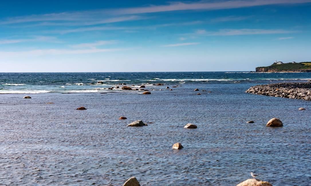 Paisagem no mar de labrador, onde espécies de peixe estão habitando águas mais profundas para se adaptarem a mudanças de temperatura Foto: Michel Rathwell / CC