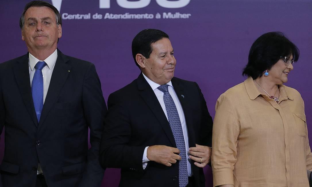 A ministra participou de evento de lançamento da campanha ao lado do presidente Jair Bolsonaro Foto: Jorge William / Agência O Globo