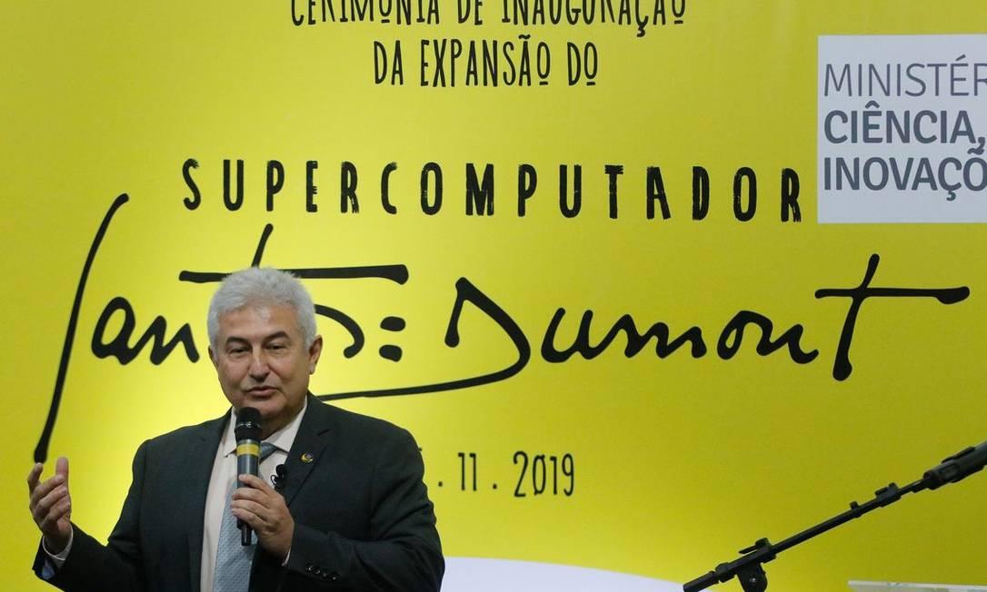 O ministro da Ciência, Tecnologia, Inovações e Comunicações participou da inauguração da expansão do supercomputador Santos Dumont Foto: Tomaz Silva/Agência Brasil
