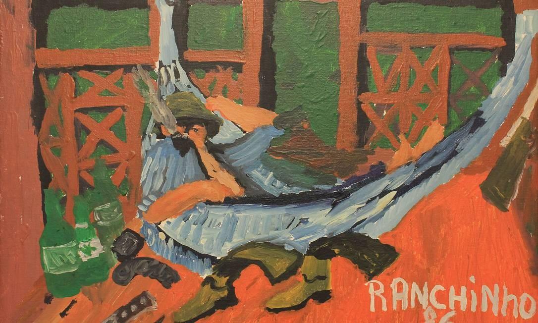 Ranchinho (Sebastião Theodoro Paulino da Silva), Na rede, 1986 óleo sobre madeira (Rodrigo Casagrande Acervo Galeria Estação) Foto: Divulgação