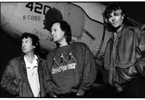 O grupo Pink Floyd, na segunda metade dos anos 1980 Foto: Dimo Safari / Divulgação