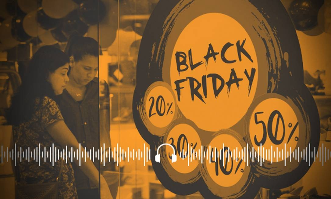 Consumidores aproveitam ofertas na Black Friday. Fique atento às dicas Foto: Arte