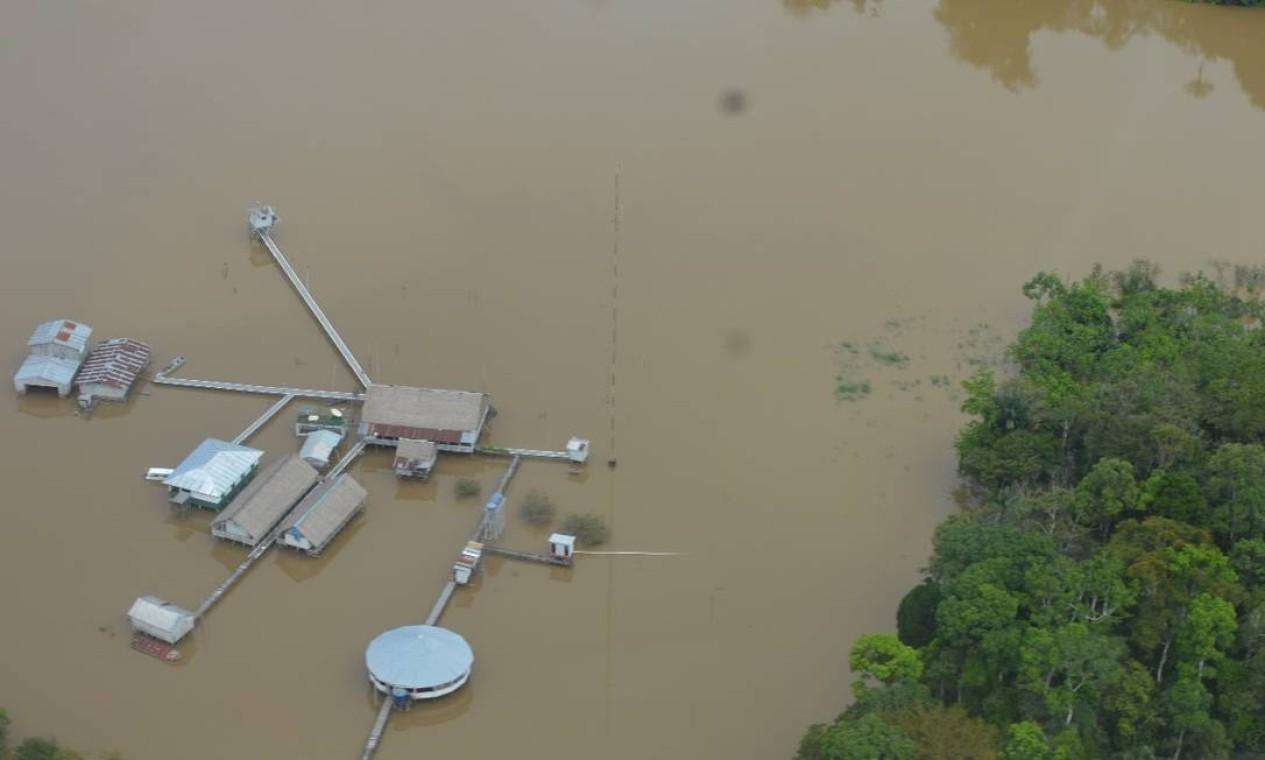 Base da Funai no rio Ituí, Amazonas, para monitoramento e proteção de indígenas isolados; local vem sendo atacado Foto: Acervo Funai
