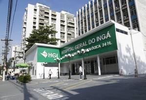 Alvo: Hospital Geral do Ingá é uma das unidades apontadas pelo Corpo de Bombeiros como irregulares Foto: Fábio Guimarães 25-09-2019 / Agência O Globo