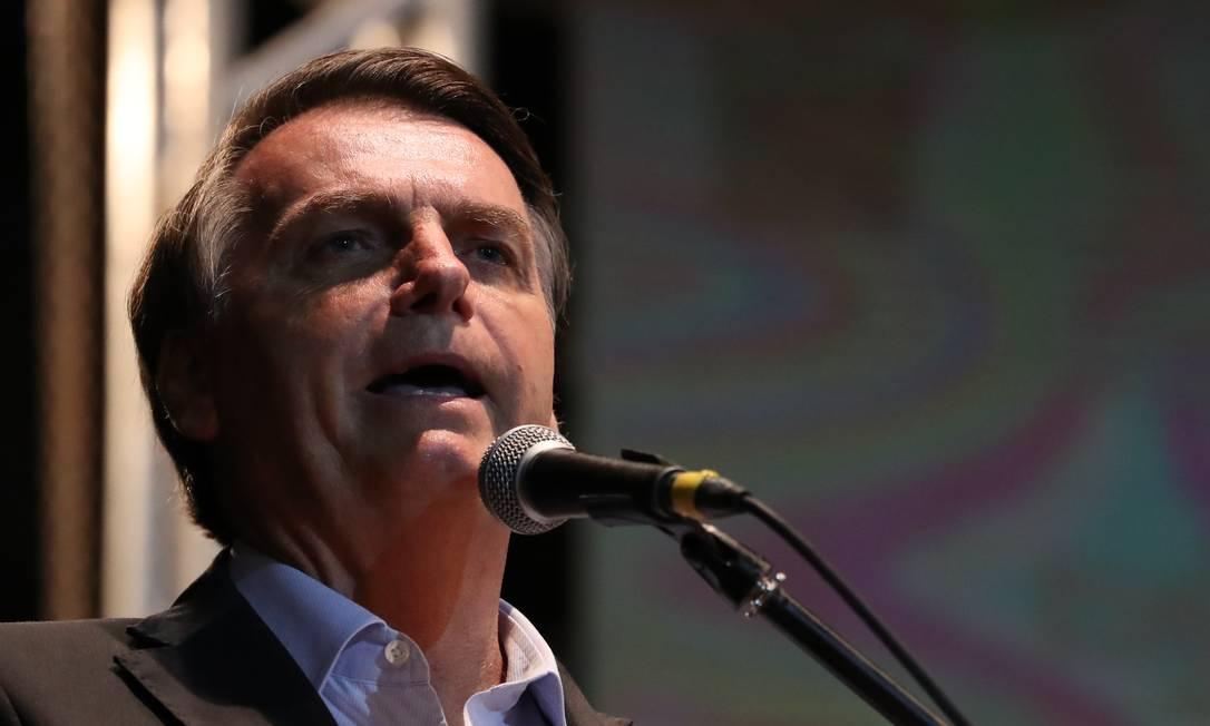 O presidente Jair Bolsonaro durante discurso Foto: Marcos Correa / Presidência
