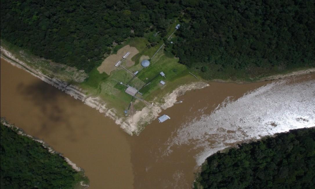 Imagem aérea da Base de Proteção Etnoambiental do Vale do Javari, no rio Ituí Foto: Divulgação / Funai