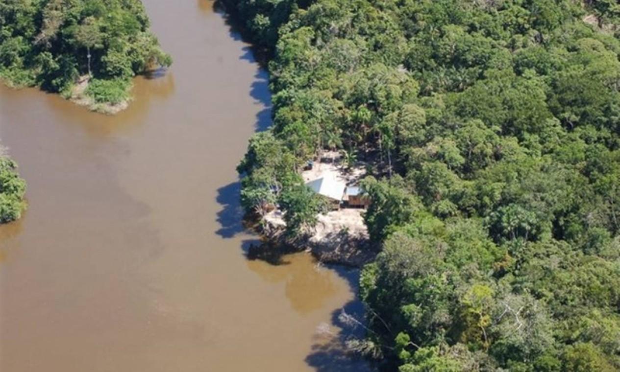 Bape da Tribo Indígena Hi-Merimã, às margens do rio Piranha, Amazonas Foto: Divulgação / Funai