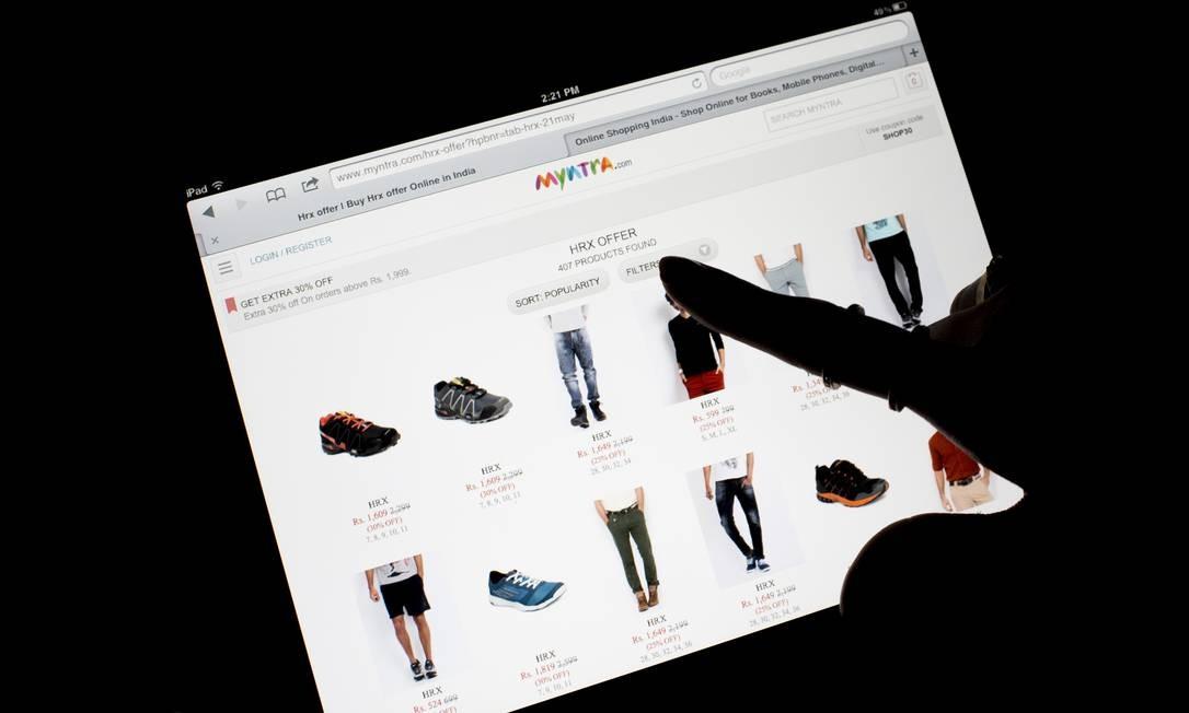 Loja de roupas na internet Foto: Brent Lewin / Bloomberg