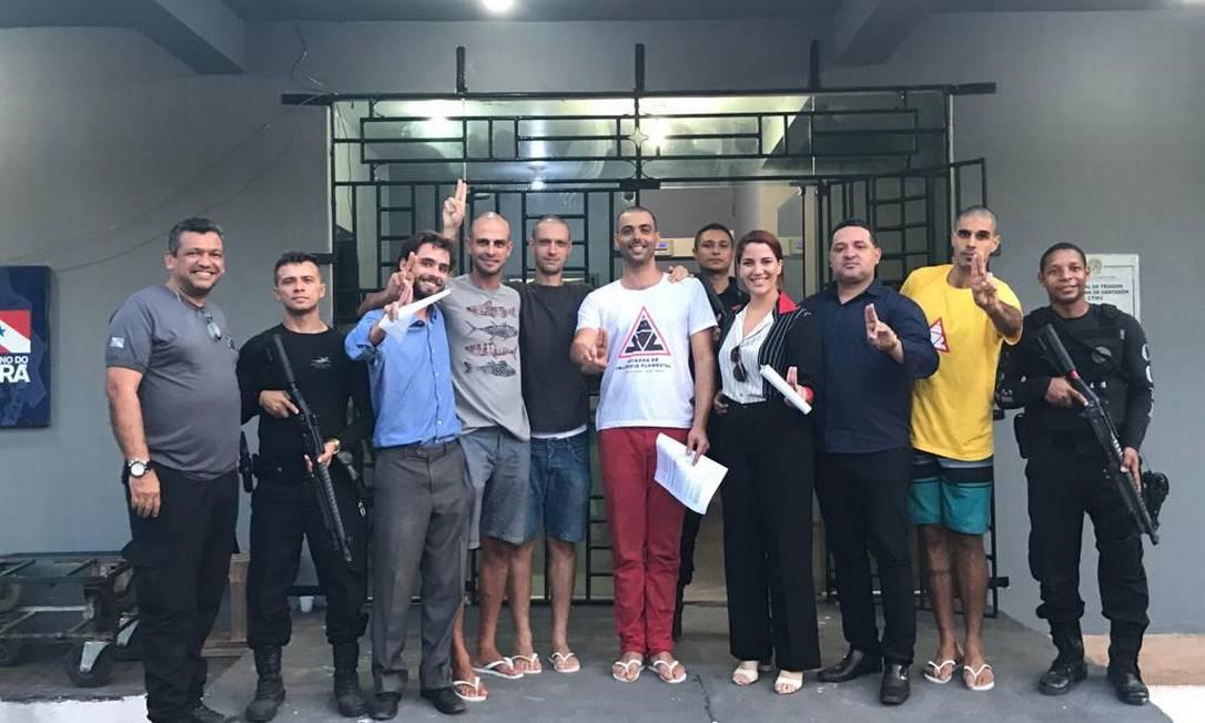 Grupo saiu da prisão em Santarém com os cabelos raspados Foto: Reprodução