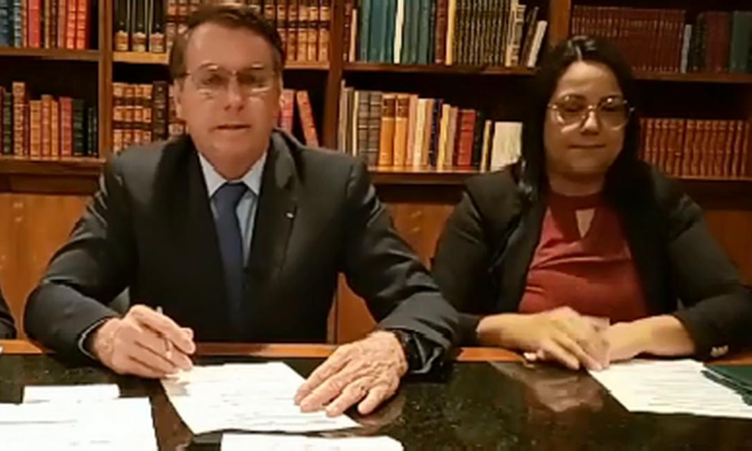 Bolsonaro fala sobre preço da carne em rede social. Foto: Reprodução