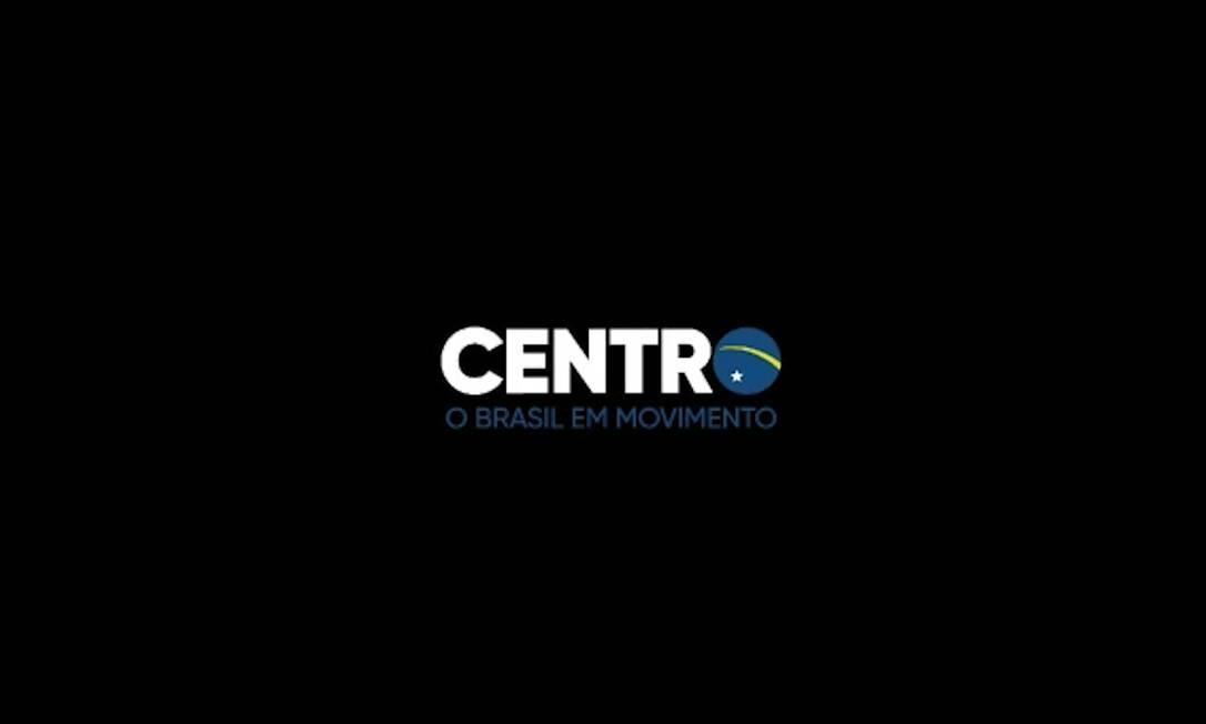 """Propaganda veiculada pelo centrão termina com a palavra """"centro"""". A vogal """"o"""" faz referência à Bandeira Nacional. Foto: Reprodução"""