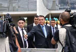 Bolsonaro deu poderes plenos para Roberto Alvim montar equipe da área da cultura Foto: EVARISTO SA / AFP