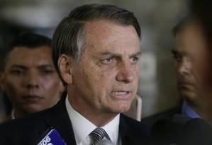 Jair Bolsonaro elogia medida do Banco Central de limitar o juro do cheque especial Foto: Antonio Scorza / Agência O Globo