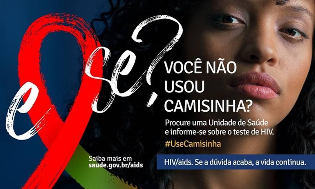 Imagem da campanha contra a Aids lançada pelo Ministério da Saúde Foto: Reprodução