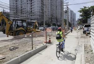 Obras de alargamento na Marquês do Paraná: todas as interdições ocorrerão no período entre 6h e meia-noite Foto: Fábio Guimarães / Agência O Globo