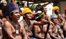 Lideranças do povo Munduruku reunidos em Brasília para reivindicar entre outros direitos, a demarcação de sua terras Foto: Divulgação/Cimi