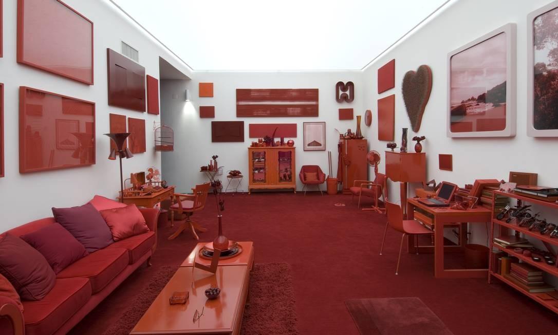 A instalação 'Desvio para o vermelho', que integra a lista de obras oferecidas para pagamento da dívida Foto: Pedro Motta/Divulgação