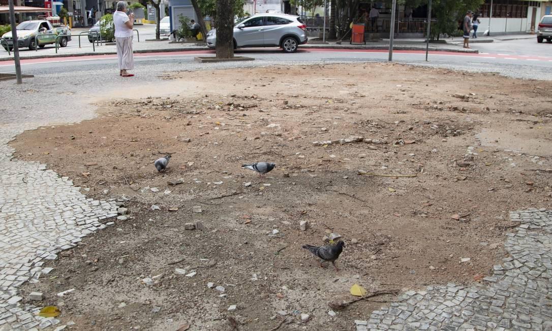 Sem coreto. A Praça Desembargador Araújo Jorge teria mais modificações Foto: Ana Branco / Agência O Globo