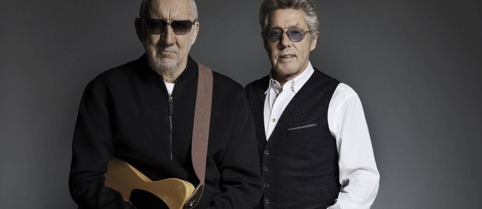 O guitarrista Pete Townshend e o vocalista Roger Daltrey, do grupo inglês Who Foto: Divulgação