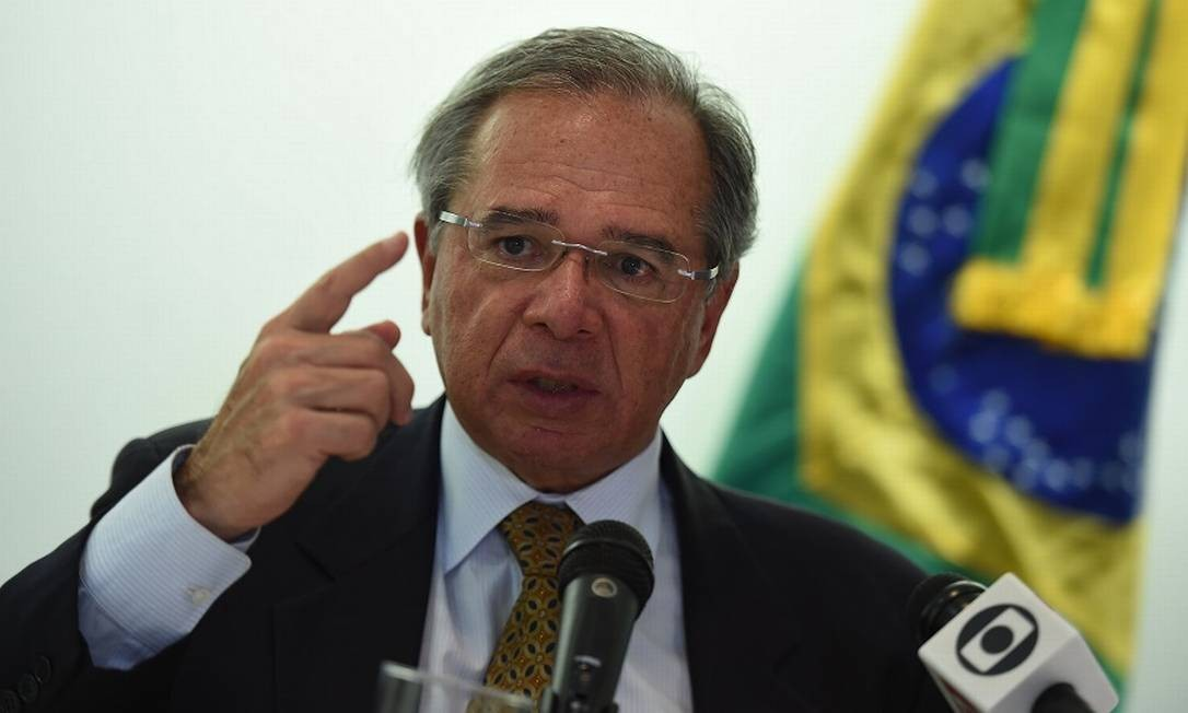 O ministro da Economia, Paulo Guedes. Foto: OLIVIER DOULIERY / AFP