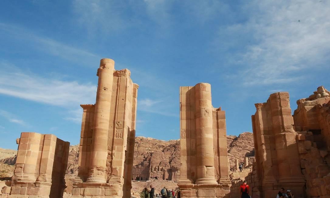 """O sítio arqueológico de Petra, na Jordânia, chegou a um milhão de visitantes no último dia 21. O local foi eleito, em 2007, como uma das """"Novas Maravilhas do Mundo"""" Foto: AHMAD ABDO / AFP"""