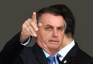 Bolsonaro: não ao congelamento. Foto: EVARISTO SA / AFP