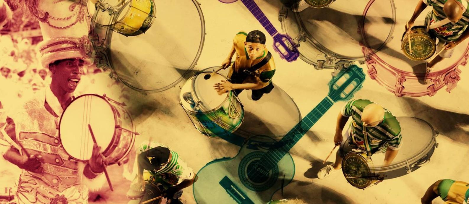 Sambas e baterias: para especialistas, dois pilares do carnaval que subiram de patamar nesta década Foto: Editoria de Arte