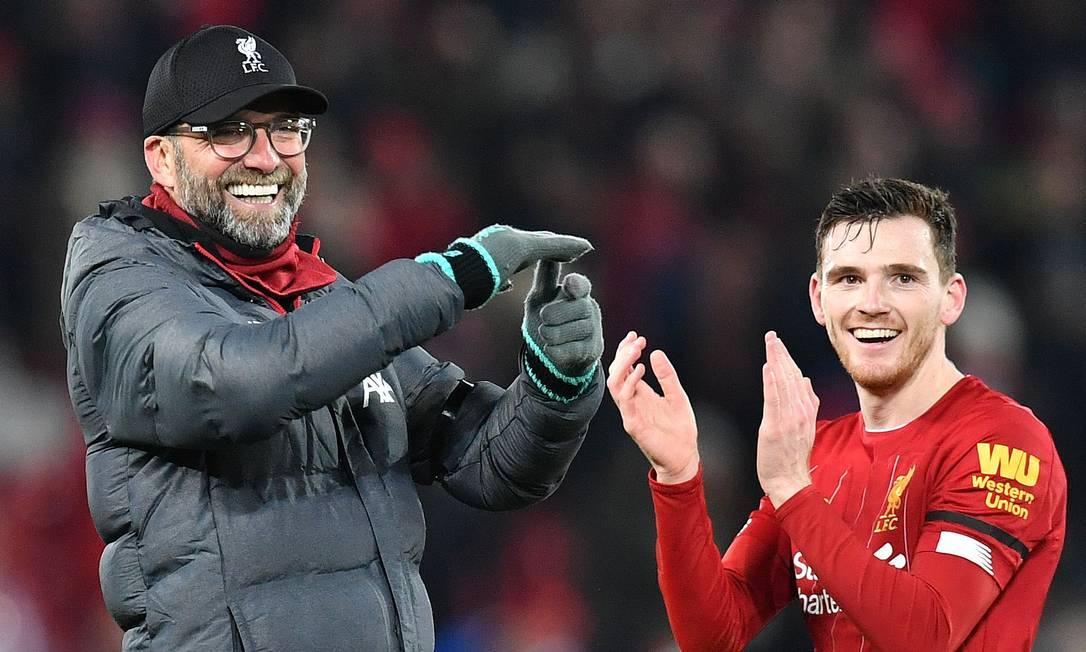 Liverpool: a melhor transição do mundo, uma equipe formada pelos jogadores mais atléticos da Europa Foto: PAUL ELLIS / AFP