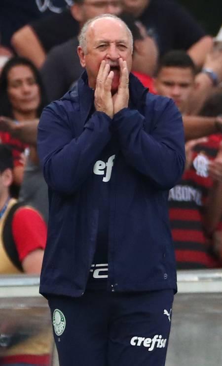 Luis Felipe Scolari foi o primeiro a cair. Sem setembro, Palmeiras perdeu de 3 a 0 no Maracanã, em partida válida ainda pelo primeiro turno Foto: Pilar Olivares/01-09-2019 / Reuters