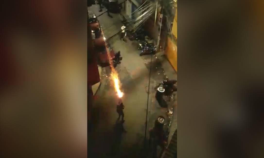 Policiais lançaram bombas e balas de borracha durante operação contra baile funk, em São Paulo Foto: Reprodução