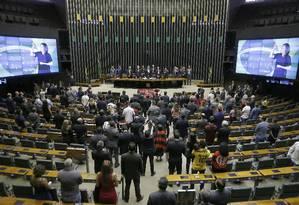 Sessão Solene na Câmara dos Deputados Foto: Jorge William / Agência O Globo