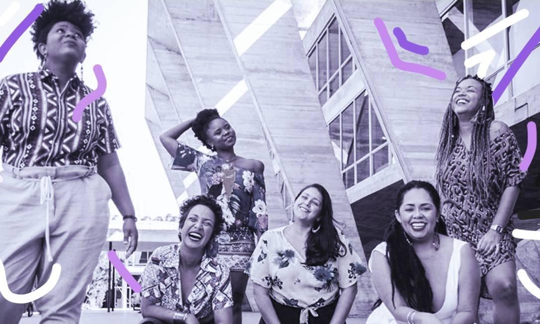 Moça Prosa, grupo formado por moças mostra que lugar de mulher é no samba Foto: Carolina Merat