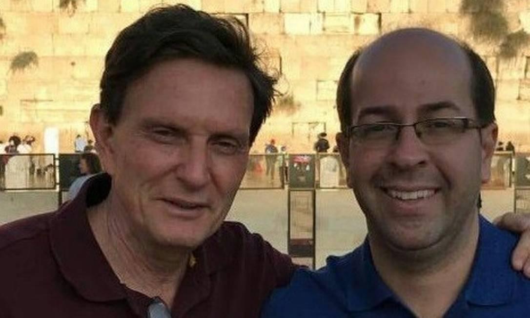 Rafael Alves em 2016, em visita a Jerusalém junto com o prefeito Marcelo Crivella Foto: Reprodução