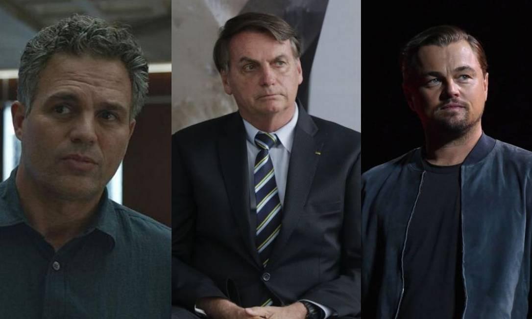 O ator Mark Rufallo criticou o presidente Jair Bolsonaro após as acusações contra Leonardo DiCaprio Foto: Reprodução